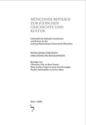 Ude Christian, Vogel Hans-Jochen, Salamander Rachel - Münchner Porträts: Drei Jüdische Biographien