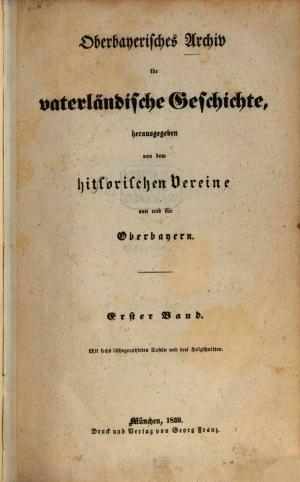 - Oberbayerisches Archiv 1839