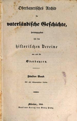- Oberbayerisches Archiv 1844