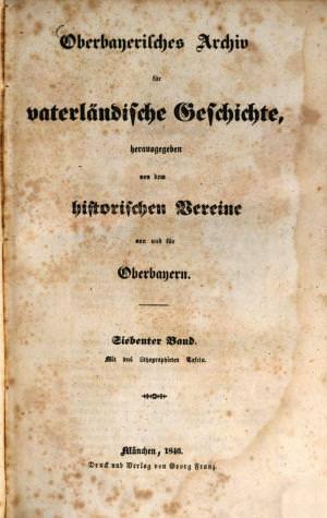- Oberbayerisches Archiv 1846