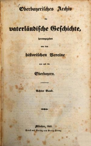 - Oberbayerisches Archiv 1847