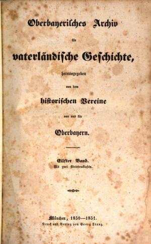 - Oberbayerisches Archiv 1851