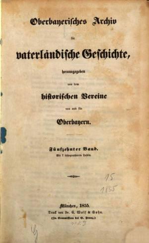 - Oberbayerisches Archiv 1855