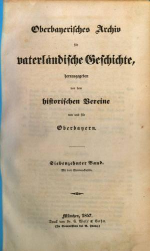 - Oberbayerisches Archiv 1857/2