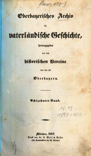 - Oberbayerisches Archiv 1857/3