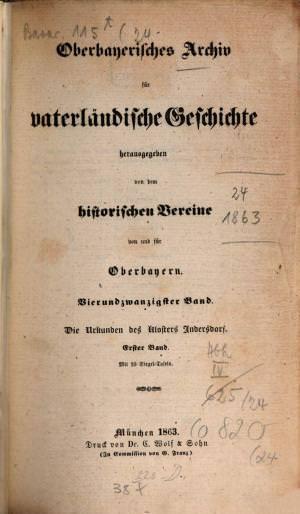 - Oberbayerisches Archiv 1863
