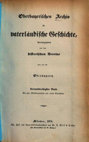 - Oberbayerisches Archiv 1874