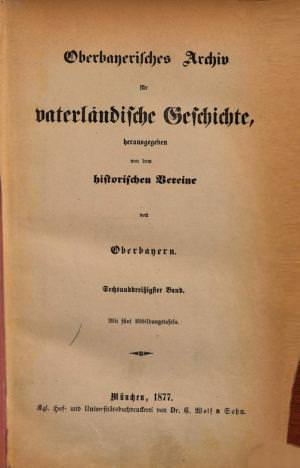- Oberbayerisches Archiv 1877