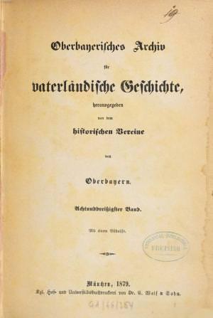- Oberbayerisches Archiv 1879
