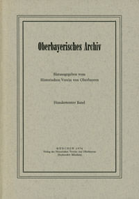 - Oberbayerisches Archiv - Band 101 - 1976