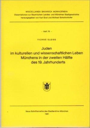Gleibs Yvonne - Juden im kulturellen und wissenschaftlichen Leben Münchens